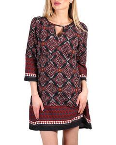 Luna Chix Women's Patterned Long Sleeve Dress, Multi, hi-res