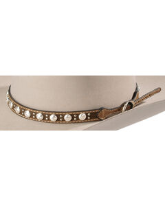 Leather Concho Studded Hat Band, , hi-res