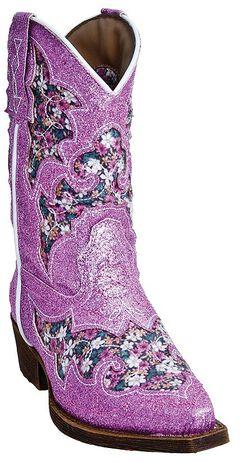 Laredo Girls' Glitterachi Cowgirl Boots - Snip Toe, , hi-res