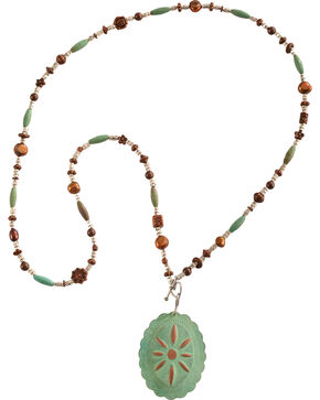 Julie Rose Mixed Bead Necklace, Green, hi-res