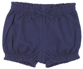Wrangler Toddler Girls' Navy Elastic Waist Shorts, Navy, hi-res