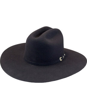 Justin Men's Black 15X Newman Cowboy Hat , Black, hi-res