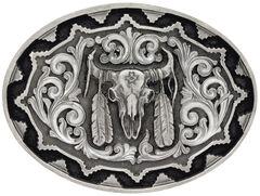 Montana Silversmiths Southwest Classic Impressions Buffalo Skull Attitude Belt Buckle, , hi-res
