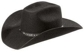 Kids' Uvale Wool Felt Cowboy Hat, Black, hi-res