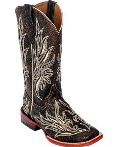 Ferrini Chocolate Vixen Cowgirl Boots - Square Toe, , hi-res