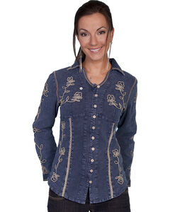 Scully Floral Embroidered Top, , hi-res