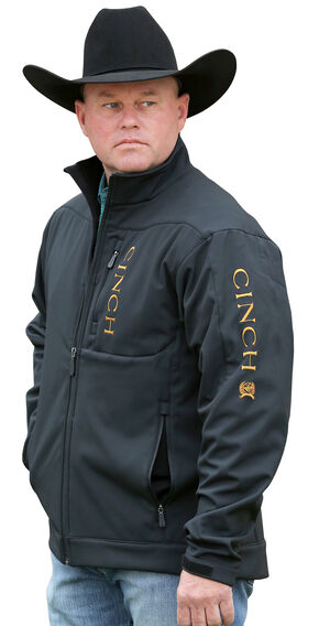 Cinch Men's Black and Gold Bonded Concealed Carry Jacket, Black, hi-res