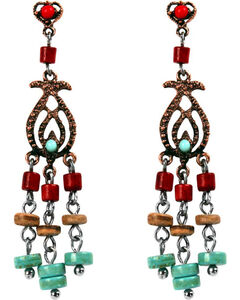 Treska Women's Cowtown Collection Small Linear Chandelier Earrings, , hi-res