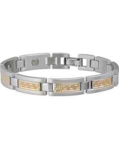 Sabona Men's Greek Key Duet Magnetic Bracelet, , hi-res