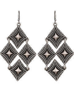 Wrangler Rock 47 Points of Aztec Pyramid Views Cluster Earrings, , hi-res