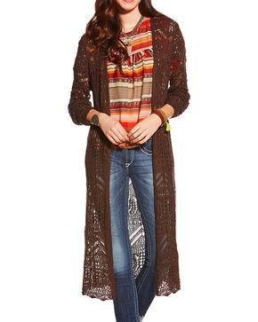 Ariat Women's Claire Sweater, Chocolate, hi-res