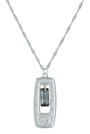 Montana Silversmiths Women's Elegant Western Doorway Necklace , Silver, hi-res