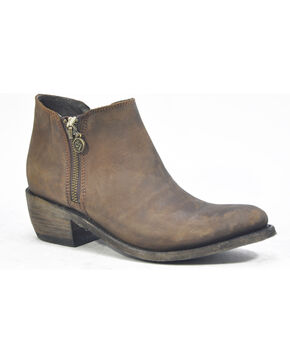 Liberty Black Women's Vegas Taupe Cowgirl Booties - Round Toe , Chocolate, hi-res