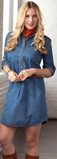 Ryan Michael Women's Whip-Stitch Denim Dress, , hi-res