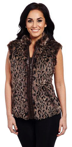 Cripple Creek Women's Leopard Sweater Vest, , hi-res
