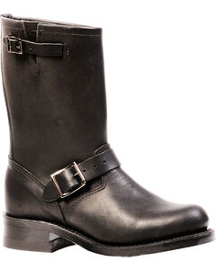 Boulet Everest Black Harness Boots - Round Toe, , hi-res