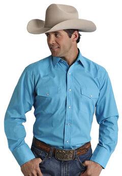 Roper Men's Broadcloth Solid Western Shirt, , hi-res