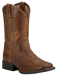 Ariat Youth Boys' Honor Cowboy Boots - Square Toe , , hi-res