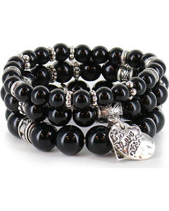 Shyanne Women's Beaded Charm Bracelet, , hi-res