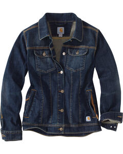 Carhartt Women's Brewster Denim Jacket, , hi-res