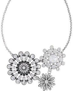 Rock 47 by Montana Silversmiths Vintage Kitsch Diamante Flower Necklace, , hi-res