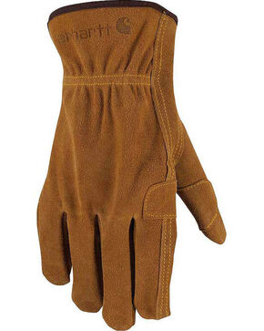 Carhartt Men's Suede Fencer Work Gloves , Brown, hi-res