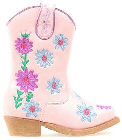 Blazin Roxx Toddler Girls' Daisy Floral Embroidered Cowgirl Boots - Snip Toe, , hi-res