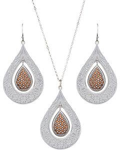 Montana Silversmiths Women's Flowers Champagne Spark Jewelry Set, , hi-res