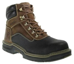 "Wolverine 6"" Corsair Waterproof Lace-Up Work Boots - Composition Toe, Brown, hi-res"