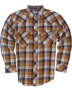Resistol Men's Gold Eton Plaid Long Sleeve Shirt , Gold, hi-res