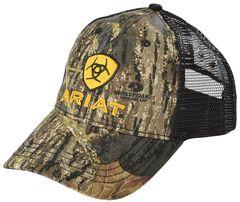 Ariat Camo and Yellow Logo Ballcap, , hi-res