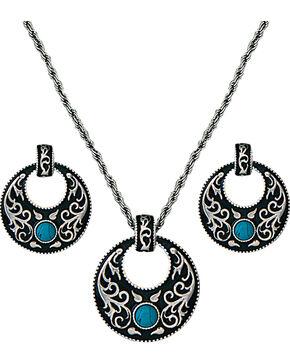 Montana Silversmiths Turquoise Garden Jewelry Set, Silver, hi-res