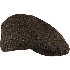 Stormy Kromer Dark Brown Harris Tweed Cabby Cap , , hi-res