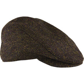 Stormy Kromer Dark Brown Harris Tweed Cabby Cap , Dark Brown, hi-res