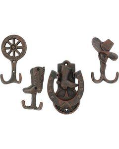 Western Moments Door Knocker & 3 Coat Hooks, , hi-res