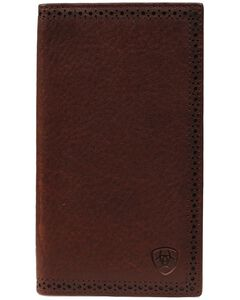 Ariat Peforated Edge Rodeo Wallet, Copper, hi-res