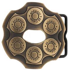 Cody James Men's Brass Revolver Bottle Opener Buckle, , hi-res