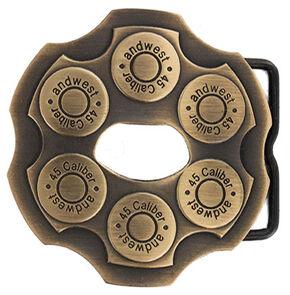 Cody James Men's Brass Revolver Bottle Opener Buckle, Silver, hi-res