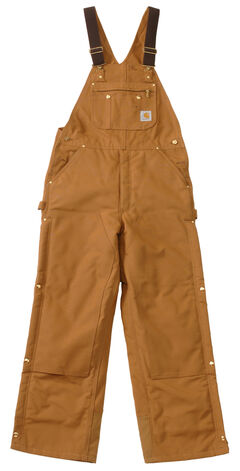 Carhartt Quilt Lined Zip To Thigh Bib Overalls - Big & Tall, , hi-res