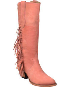 Lucchese Kacey Musgraves Gallop Suede Boots - Medium Toe, , hi-res