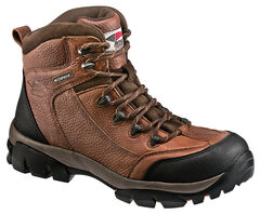 Avenger Men's Brown Waterproof Breathable Work Boots - Composition Toe, Brown, hi-res
