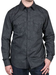 Cody James Men's Deuces Wild Striped Paisley Print Western Shirt, , hi-res