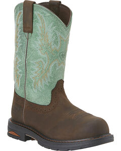 Ariat Waterproof Tracey Pull-On Waterproof Work Boots - Composite Toe, , hi-res