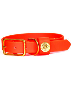 SouthLife Supply Hunter Orange Waterproof Dog Collar, Orange, hi-res
