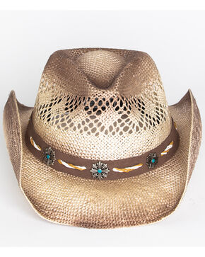 Cody James Men's Shaggy Straw Hat , Brown, hi-res