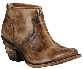 Ariat Women's Chocolate Croc Print Jadyn Boots - Pointed Toe, Chocolate, hi-res