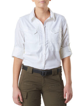 5.11 Tactical Women's Spitfire Shooting Shirt , White, hi-res