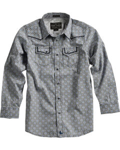 Cody James Boys' Geo Pattern Long Sleeve Shirt , , hi-res
