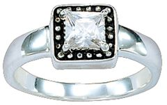 Montana Silversmiths Western Princess Solitaire Ring - Size 7, Silver, hi-res