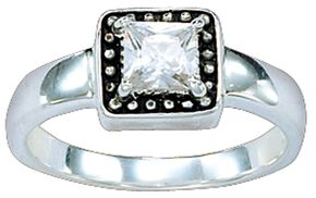 Montana Silversmiths Western Princess Solitaire Ring - Size 8, Silver, hi-res